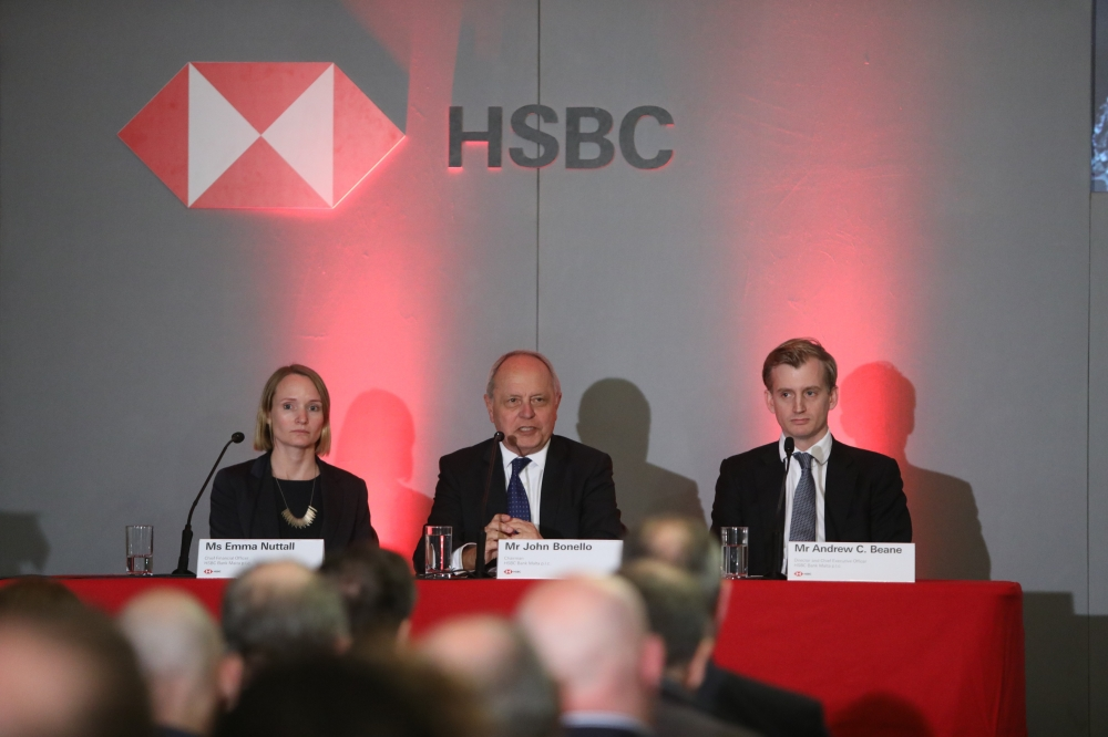 HSBC Malta posts €30.7m pre-tax profit in 2019