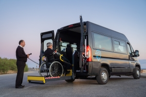 Free wheelchair transport service for eligible persons needing hospital visits