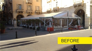 Eyesore tents removed from St John's Square in Valletta