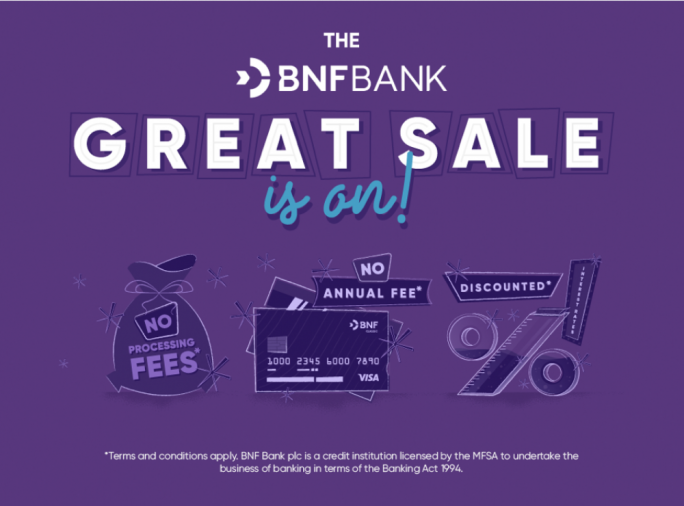The BNF Bank Great Sale offers core services at attractive discounts