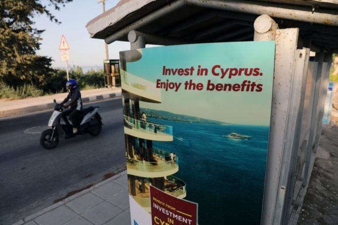 Advertisement in Paphos for investing in Cyprus which can lead to citizenship