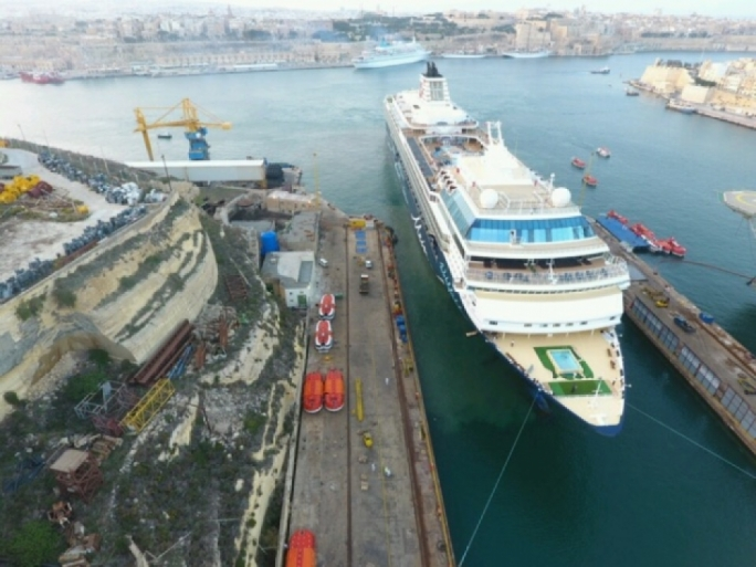 Italian cruise ship company MSC is eyeing the purchase of a 50% stake in Malta's Palumbo Shipyard