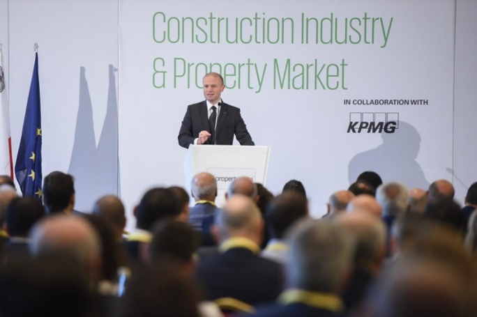 Joseph Muscat urged the construction industry to remain sustainable