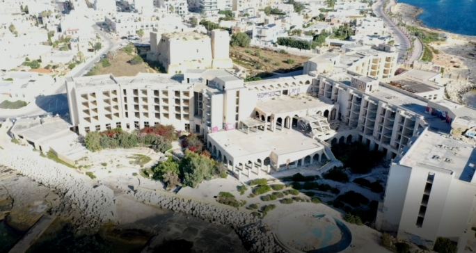 Comprehensive plan to regenerate derelict site of former Jerma Palace hotel in Marsascala
