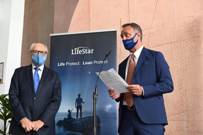 Finance minister Edward Scicluna (left) with LifeStar chairman Paolo Catalfamo