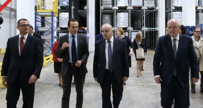The president of Malta and Mrs. Vella Visit Farsons Brewery