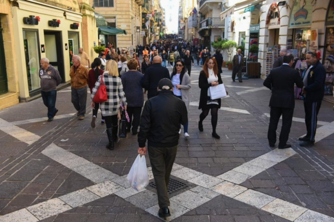 Shops in Valletta have felt the brunt of the political crisis as regular protests have kept people away from the capital